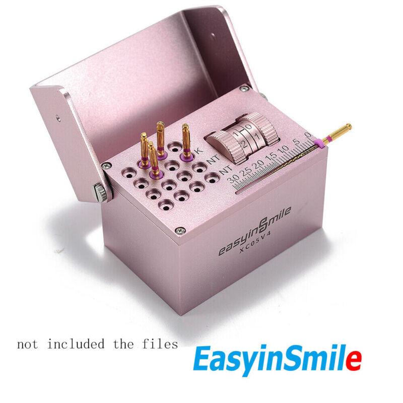 Easyinsmile Dental Endo Files Hold Block Bur Stander Metal Measuring Ruler Count