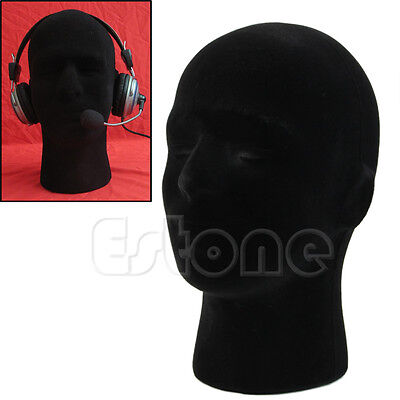 Male Styrofoam Foam Mannequin Manikin Head Model Glasses Cap Wigs Display Stand