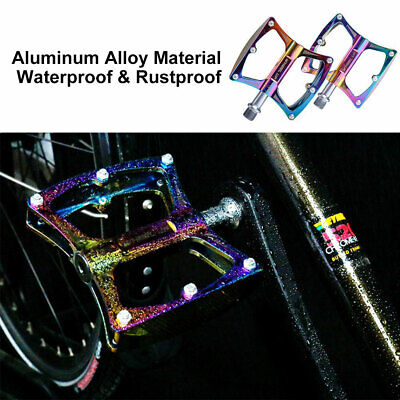 Wheel Up 1 Pair Colorful MTB Bike Bicycle Aluminum Alloy Bearing Non-slip Pedals Bicycle Components & Parts