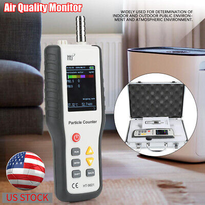 HT9600 PM2.5 PM10 Detector Particle Dust Humidity Meter Monitor Air Analyzer