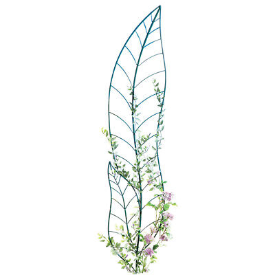 Leaf Trellis Garden Decor Yard Stake, Green, by Collections Etc