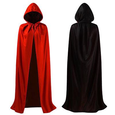 Erwachsene Kapuzenumhang Kleid Halloween Kostüm Cosplay Anzug Make-Up Neueste