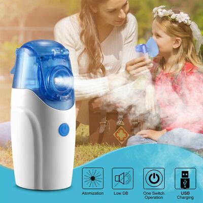 Portable Ultrasonic Mini Nebulizer Inhaler Machine Children Adult Kids Handheld