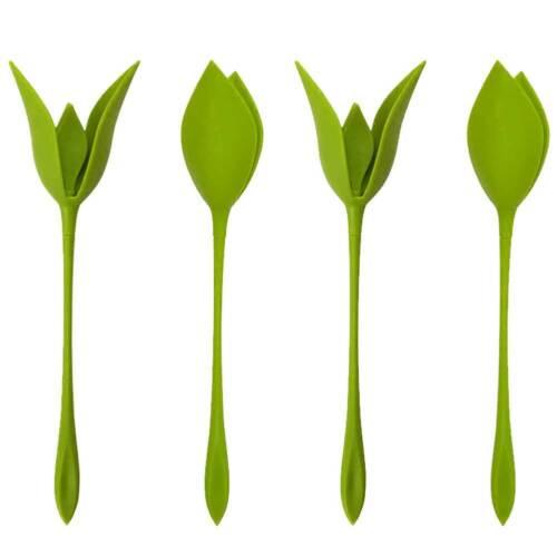 12Pcs/Set Bloom Napkin Holders Table Twist Flower Buds Servi