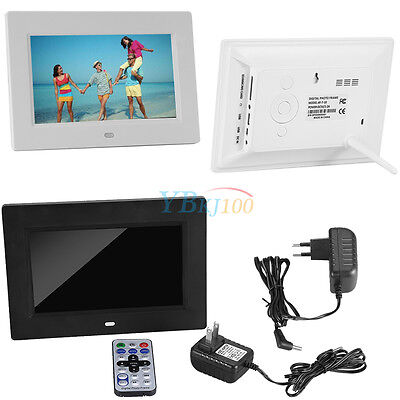 """7"""" inch Remote Digital Video Music Playing Electronic Picture/Photo Frame LJ"""