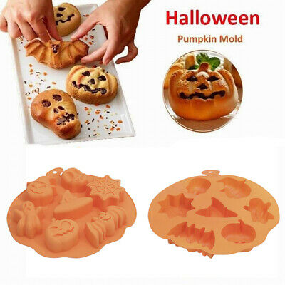 Halloween Pumpkin Cake Mould Chocolate Cookie Fondant Silicone Mold Kid DIY Bake
