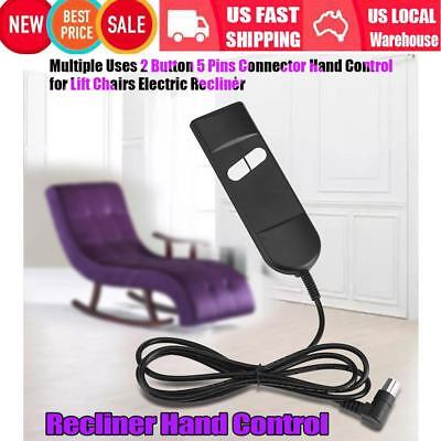 2 Button 5 Pins Universal Hand Remote Controller For Lift Chairs Power Recliner