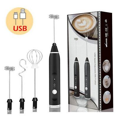 DIY Elektrisch USB Ladestation Schneebesen Kaffee Milch Mixer Rührer Frother Ei