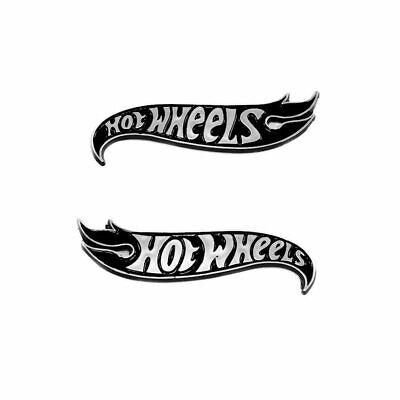 Set 2010-2015 Camaro HotWheels Edition Fender Emblem Badge Deck Lid Black