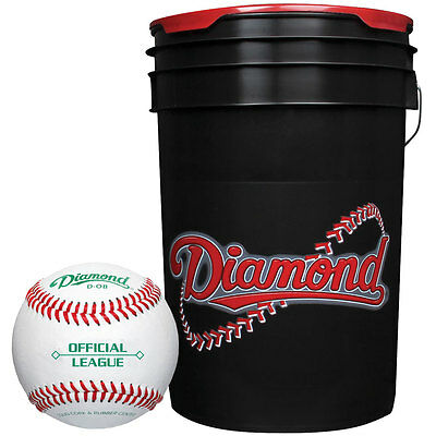 Diamond D-Ob Leather Baseballs & Bucket Combo 30 Ball Pack W/Bucket