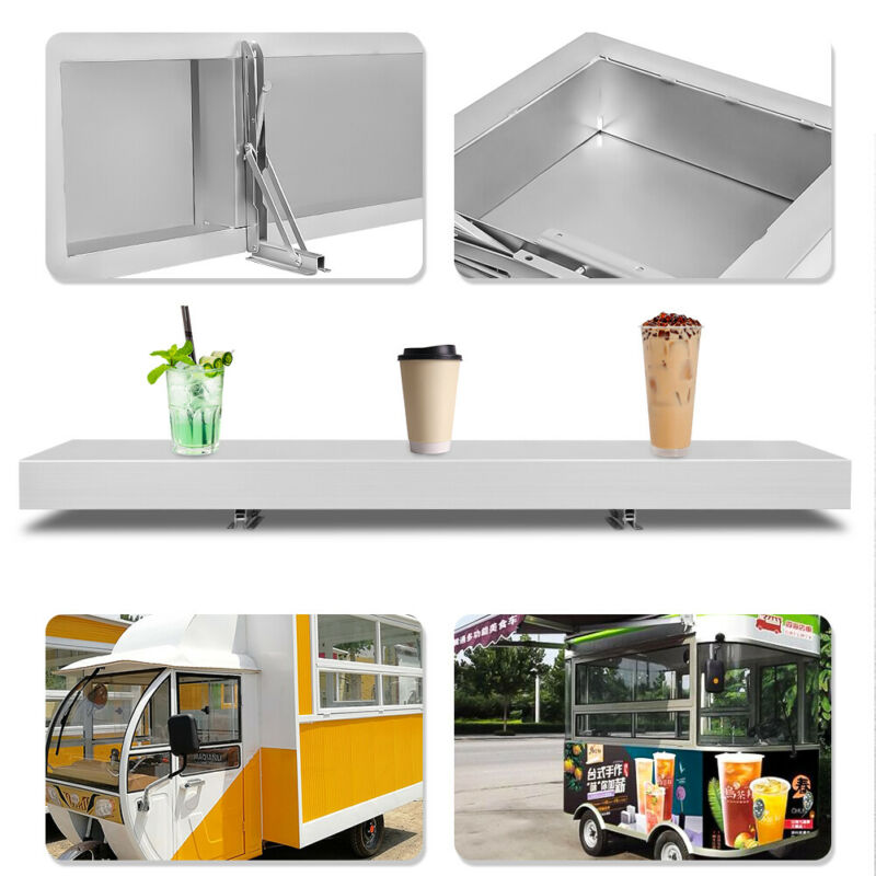 4ft Shelf for Concession Food Truck Window Serving Table Accessories Business US