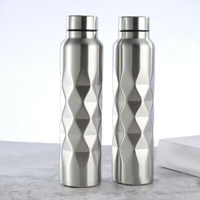 1000ml Rhombus Stainless Steel Large Capacity Outdoor Sport Cycling Water Bottle Home & Garden