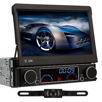 Rückfahrkamera+7 Zoll Autoradio 1 DIN mit Navi GPS DVD Player MP3 RDS SD MP3 DVB
