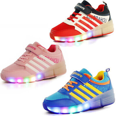 LED Sneakers for Kids Child Girls Boys Light Up Roller Skate Shoes with Wheels