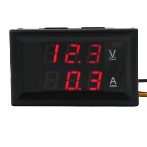 DC-4-5-30V-0-50A-Red-LED-Digital-Volt-Meter-Ammeter-Voltage-AMP-Power-New