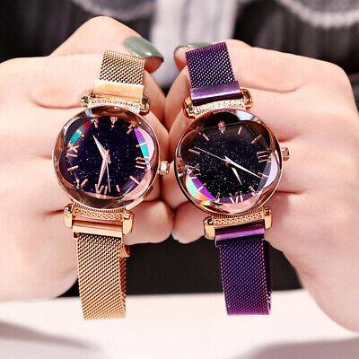 Stylish Women Watch Starry Sky Magnetic Milanese Quartz Wristwatch Luxury Watch