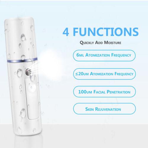 20ml USB Portable Nano Sprayer Zerstäubung Herr Gesichts Feuchtigkeitsspray ABS