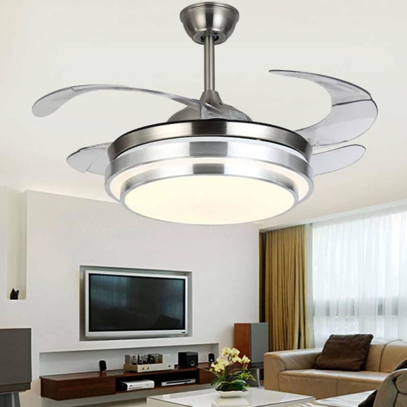 42 invisible fan chandelier light lamp led
