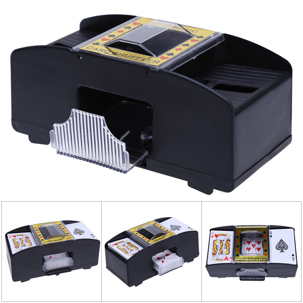 Automatic Playing Cards Shuffler Poker Casino One/Two Deck C