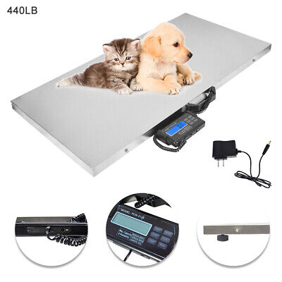 440lb Digital Vet Scale Weighing Scale Pet Cat Dog Sheep Hog Livestock Goat Usa
