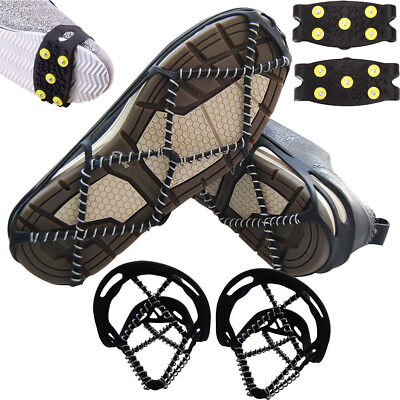 New Outdoor Anti-Slip Ice Gripper Traction Cleats Shoes Easy Strolling On Snow