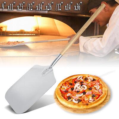 """Aluminium Pizza Peel Paddle Tray Pizza Lifter Wooden Handle Overall 23""""/26""""/36"""" Aluminium Pizza Peel"""