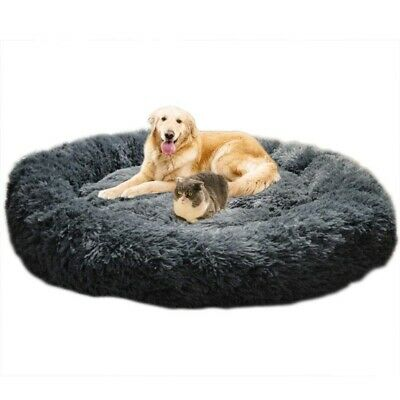 Fur Donut Cuddler Ultra Soft Orthopedic Dog and Cat Cushion Bed for Large -