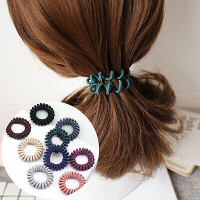 Cute High Elasticity Telephone Coil Spiral Hair Tie Hair Rings Rope Gum Scrunchy