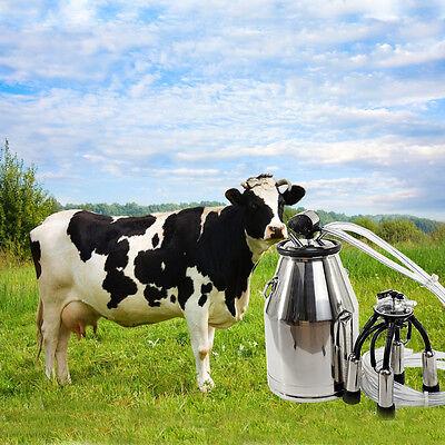 Portable Dairy Milker Milking Machine Bucket Tank Barrel