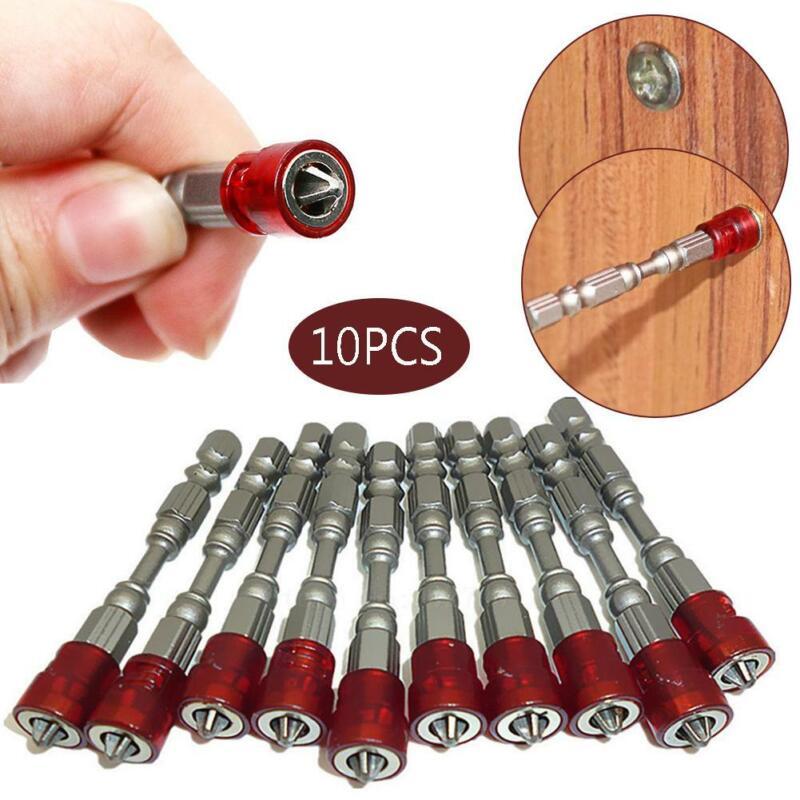 5pcs Magnétique Tournevis Bit 65 mm embouts de Tournevis Jeu de forets S2 en acier allié YK