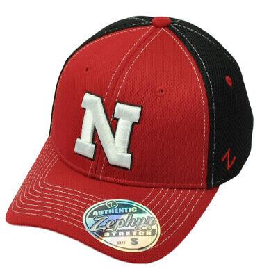 - NCAA Zephyr Nebraska Cornhuskers Flex Fit X-Large Stretch Hat Cap Jersey Mesh