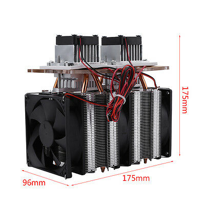 12v 144w Dual-chip Semiconductor Peltier Cooler Air Cooling Dehumidification Js