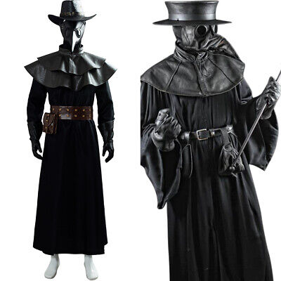 Halloween Kostüm Steampunk Gotik Plague Pest Doktor Pestartz Cosplay Maske