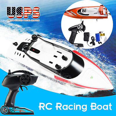 FT009 2.4G RC 4CH Water Cooling Brushless High Speed Remote Control Boat Toys US