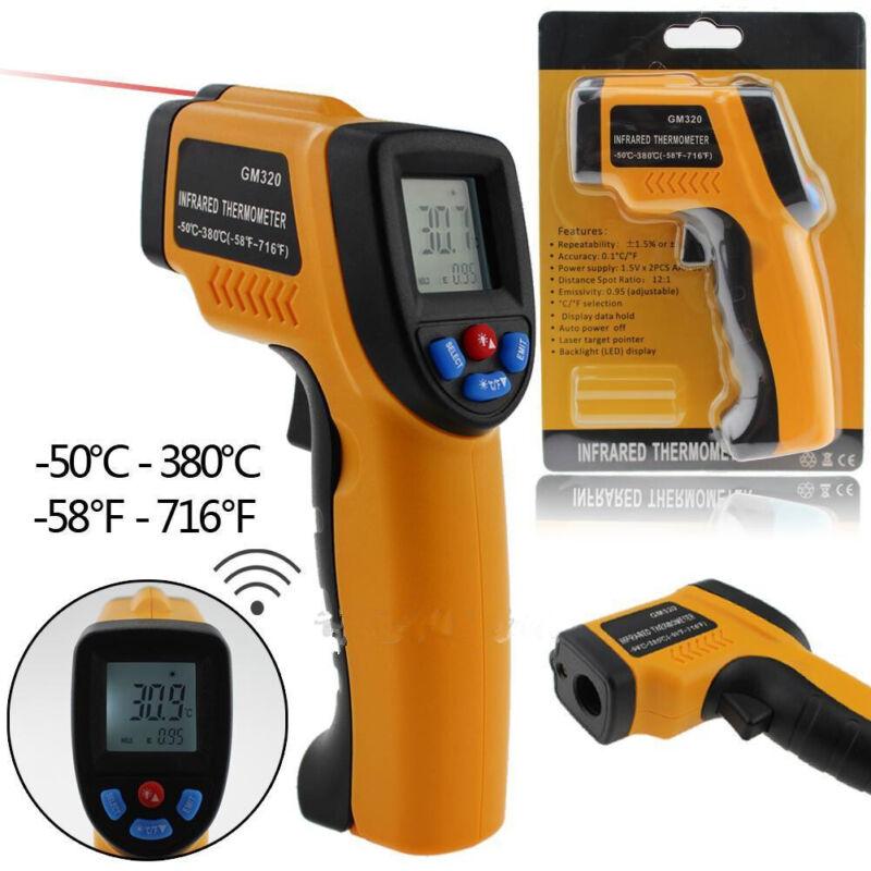 Temp Meter Temperature Gun Noncontact Digital Laser IR Infrared Thermometer US U
