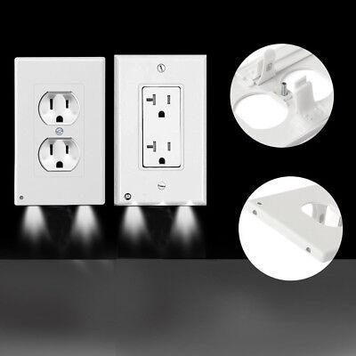 - 2/5/10Pcs Duplex Night Angel Light Sensor LED Plug Cover Wall Outlet Coverplate