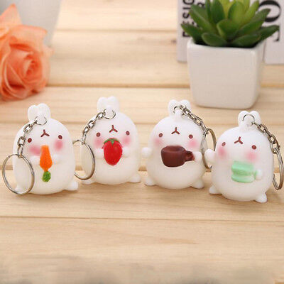 Keyring Cute Rabbit Animal Decor Bunny Key Chain Cute Key Ring Bag Charm Gift