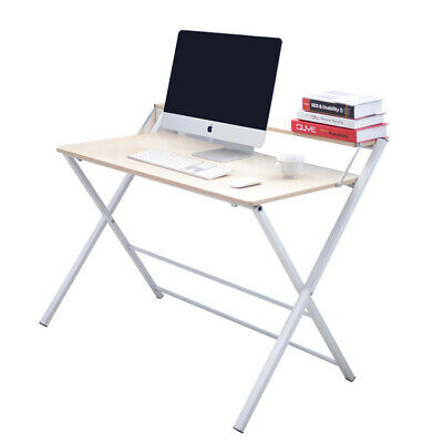 Foldable Computer Desk Folding Laptop PC Table Home Office Study Workstation UK