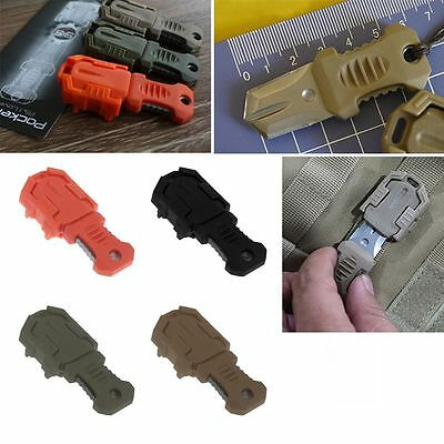 Tactical Gear Mini Pocket Knife Webbing Buckle Outdoor Camping Survival Tool