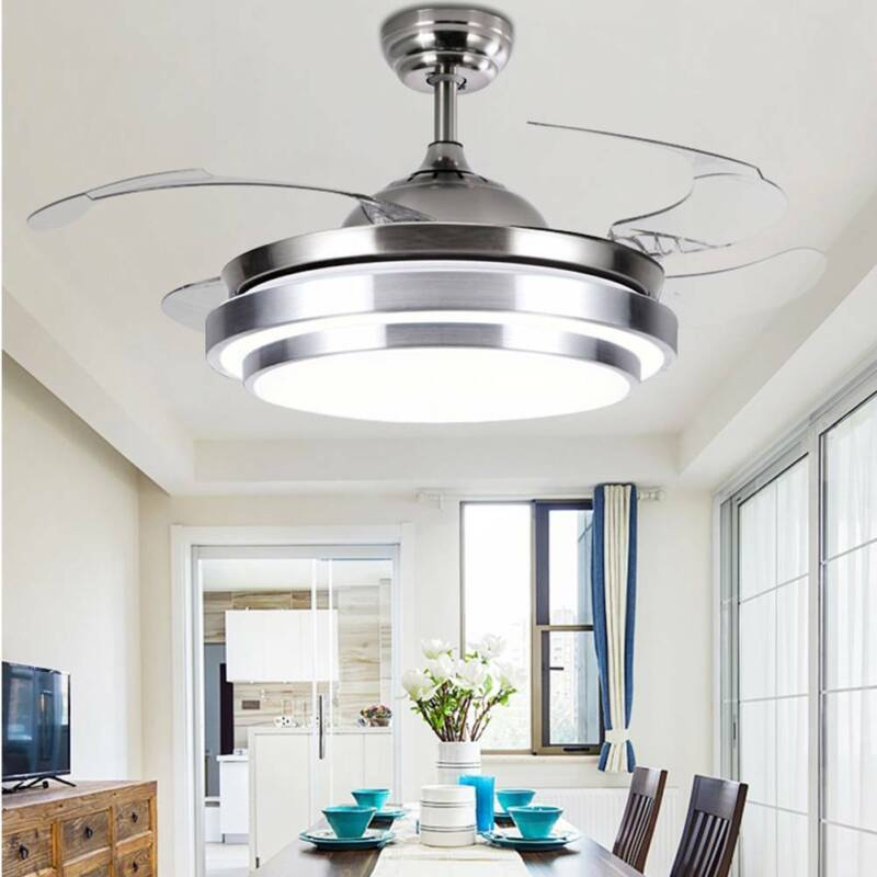 """42""""Invisible Chandelier Light Lamp Fan Remote Control Modern"""