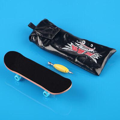 Complete Wooden Fingerboard - Maple Wood Finger Skate Board Black Foam Tape