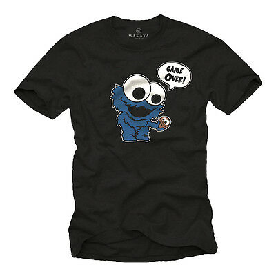 T-Shirt Monster Lustig Cool Kekse Cookie Elmo Fun Nerd Comic Geek Geschenke NEU