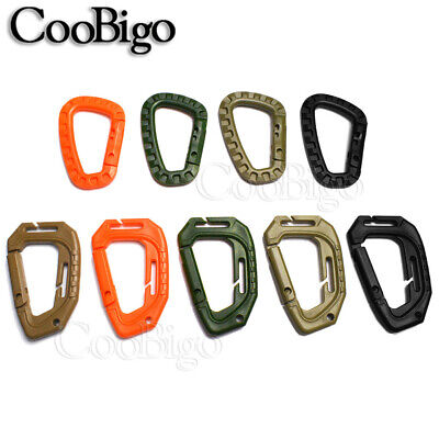 1x Plastic Carabiner Snap Hook D-Ring KeyChain Outdoor Bag Backpack Accessory Keychain Plastic Snap Bag