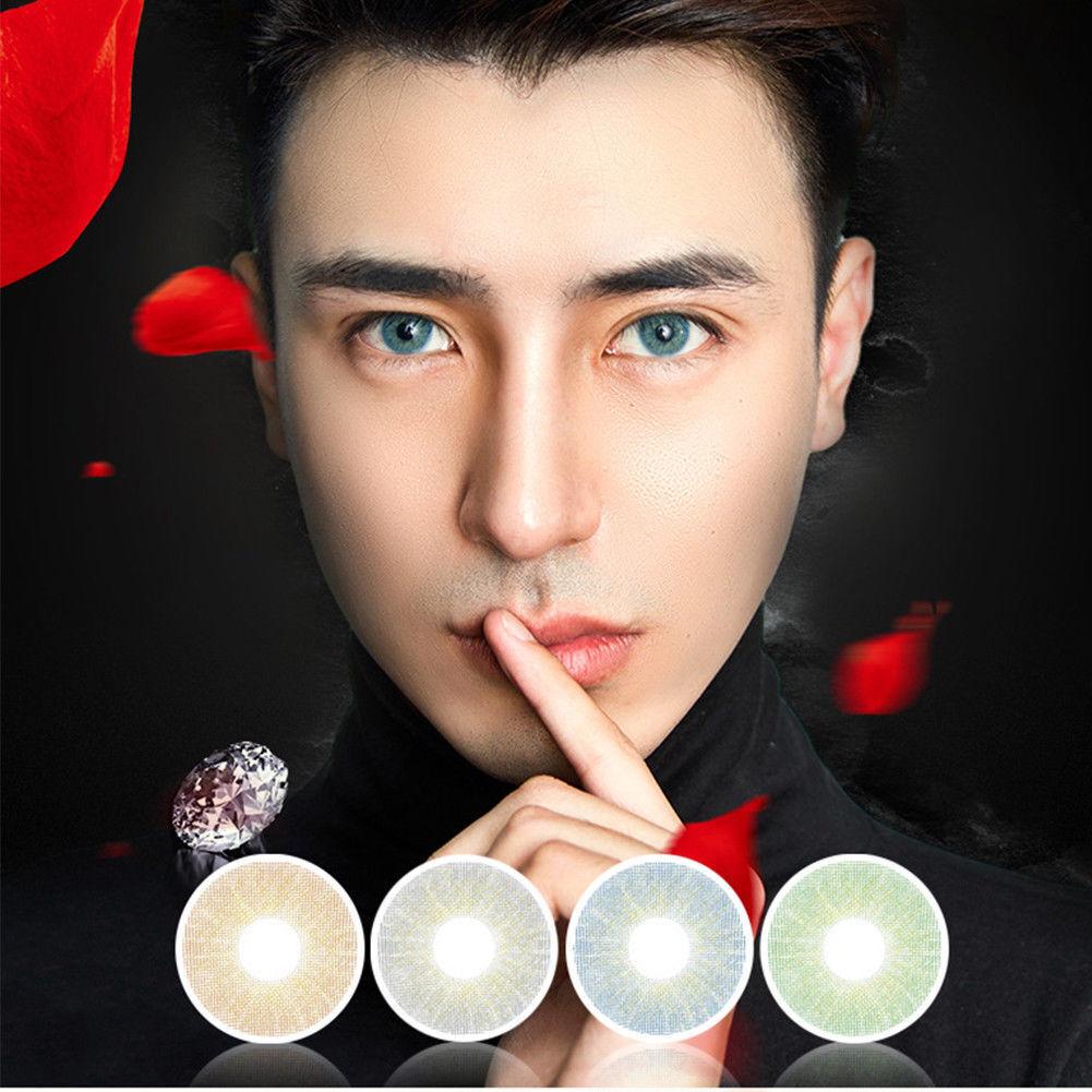 2 Kontaktlinsen Contact Lens Kosmetik farbig colour BIG EYE Cosplay Party Makeup