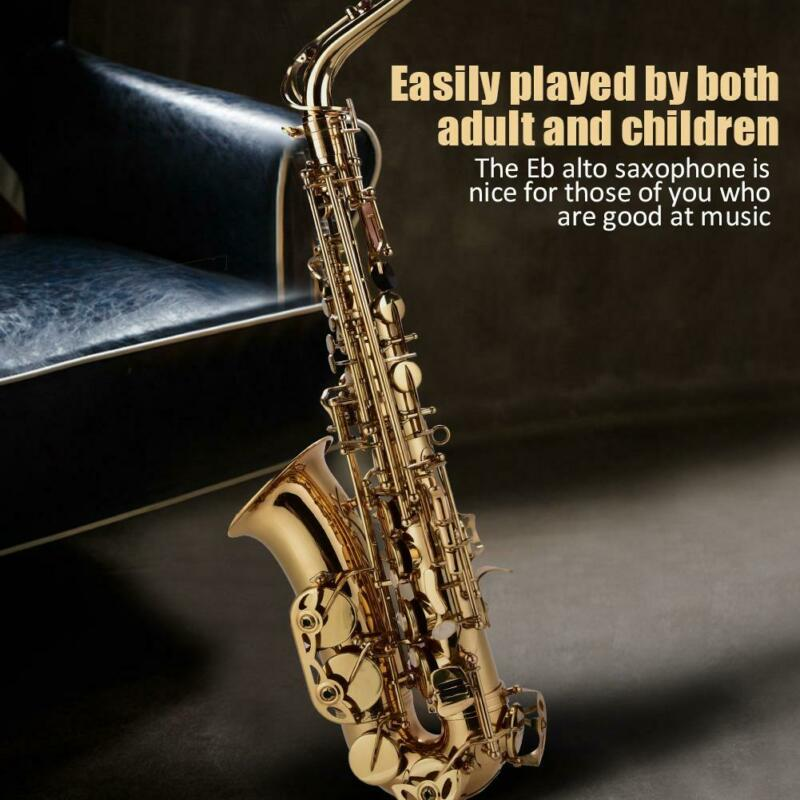Alto Eb Sax Saxophone Set with Storage Case Mouthpiece Accessories Kid  Adult