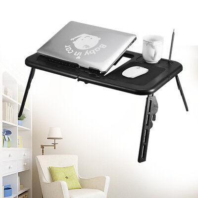 Laptoptisch Notebooktisch Notebook Laptop Ständer Betttisch Klapptisch Schwarz_ ()