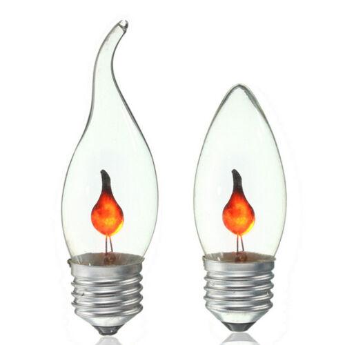 e14 e27 led light flicker fire flame bulb candle lamp xmas chandelier decor ebay. Black Bedroom Furniture Sets. Home Design Ideas