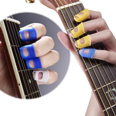4 Finger Picks Protector Plectrum Thumb Fingertip Cover for Bass/Ukulele Guitar