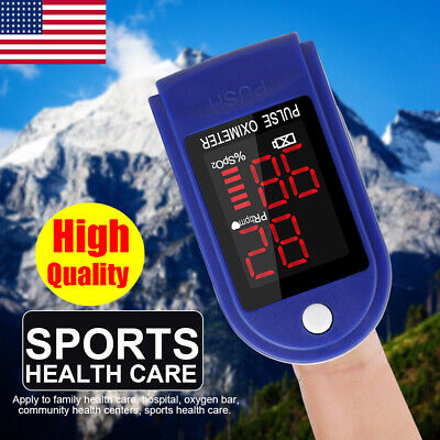 Finger Pulse Oximeter Blood Oxygen Saturation Meter Spo2 Pr Meter Heart Rate Top