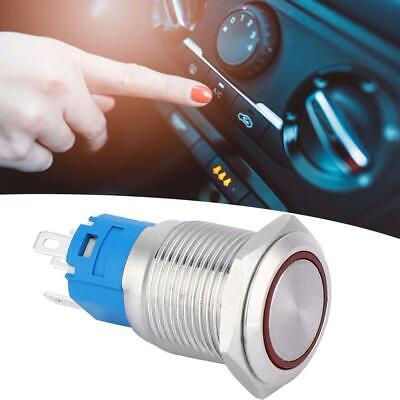 Push-button Led (16mm LED Light Ring Type Self-Reset Metal Push Button Switch  5Pin 1NO-1NC GS)